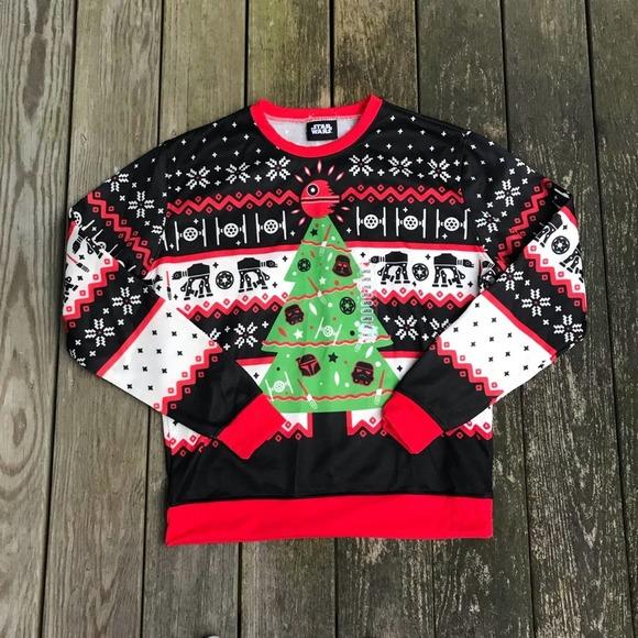 Star Wars Black, Red Christmas Holiday SweatShirt